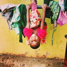 The World looks beautiful upside down  Pic Courtesy : #volunteer Daniela Sattler from her #Orphanage Program in Arusha #Tanzania  #VolSolTanzania #VolSol #childcare #orphan #photooftheday #picoftheday #instagood #instadaily #children #kid #love #care #sweet #education