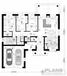 Projekt Dom na Parkowej 6 - - Koszt budowy 259 tys. Beautiful House Plans, Dream House Plans, Beautiful Homes, Small House Interior Design, House Design, Bungalow Style House, House Construction Plan, Model House Plan, Cottage Plan