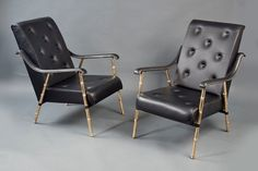 Jacques Adnet armchairs from the 1950s at Bernd Goeckler. Photograph courtesy of Bernd Goeckler.