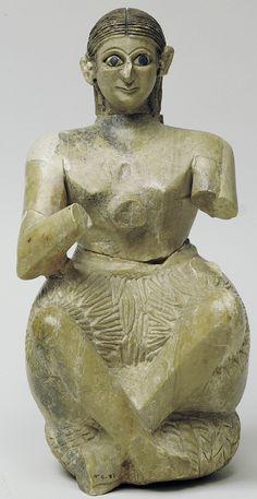 Seated statuette of Urnanshe, from the Ishtar temple at Mari (modern Tell Hariri)