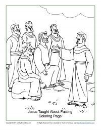 Jesus Taught About Fasting Coloring Page Bible Coloring Pages