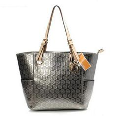 Michael Kors Jet Set Monogram Zip Top Tote Grey,looks expensive and classy,but cheap!! www.mknew.com/...