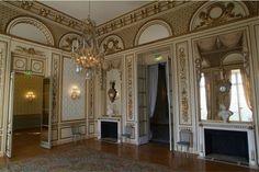 """O """"Salon du roi 'usado como bola pavilhão Música quarto de Madame Du Barry em Louveciennes"""