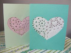 Paper Doilies. Simple and pretty. I think I'd add a ribbon bow above heart.