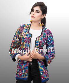 Mirror work jacket - Readymade coat -  Tribal JAcket bohemian jacket - kutch jacket  BY#craftnfashion #meghcraft #vintagecraft #indiancrafts#indianethnicjewelry
