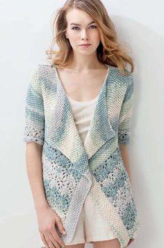 Lana Grossa PRIMAVERA Tricot, Veste En Crochet, Crochet De Tricot, Mode  Crochet, 6ef2ffaa015b