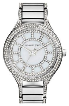 Michael Kors 'Kerry' Crystal Accent Bracelet Watch, 38mm available at #Nordstrom