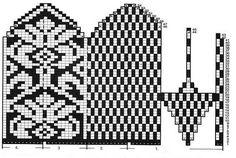 Knitted Mittens Pattern, Knit Mittens, Mitten Gloves, Tapestry Crochet, Knit Crochet, Fair Isle Knitting, Knitting Charts, Craft Patterns, Yarn Crafts