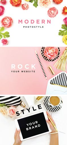Styled Stock Photography is a fabulous way to rock your website and style your brand on a budget.  Modern Props, Professional Styling from Dear Miss Modern.