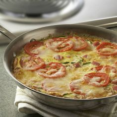 A frittata is a very versatile recipe. You can serve it at any meal and you can also vary the meat, vegetables, cheese and seasonings.