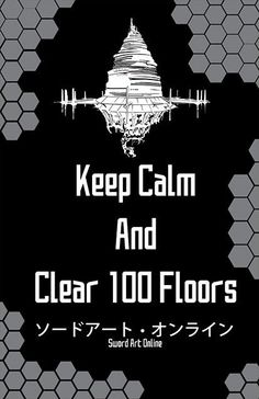 Sword Art Online SAO Keep Calm Print 11x17 by BenjinxDesigns, $10.00: