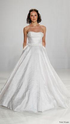 tony ward bridal 2017 strapless semi sweetheart ball gown wedding dress (helena) mv