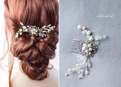 Haarkamm+Perlen+Strass+Hochzeit+Haarschmuck+von+Julmond+auf+DaWanda.com