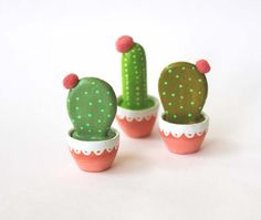 Cactus art - Gift for gardeners - Hand sculpted miniature plant