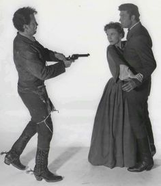 Cameron Mitchell, Anne Baxter and Dale Robertson in The Outcasts of Poker Flat, 1952