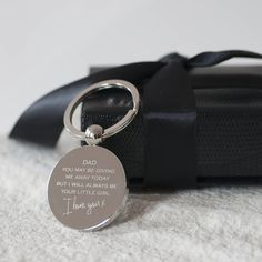 Giving Me Away Dad 'Wedding' Keyring from notonthehighstreet.com