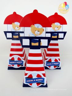 Cone quadrado Farol Harley D, Baby Boy 1st Birthday, Baby Shawer, Nautical Party, Sea Theme, Balloon Decorations, Christening, Party Favors, Balloons