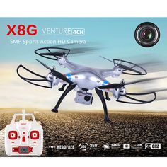 Syma X8G 2.4g 4ch 6 Axis Drone with 5.0MP 1080P Action HD Camera RC Quadcopter RTF Helicopter Toys //Price: $US $169.99 & FREE Shipping //     #clknetwork