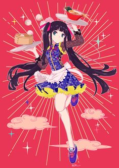 For all kinds of moe art. Especially cute anime girls and boys being cute. Content from anime, manga,. Anime Demon, Manga Anime, Anime Art, Kawaii Illustration, Character Illustration, Black Hair Fringe, Character Art, Character Design, Tumblr Art