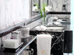 Black marble is back at Claridges Hotel, London.