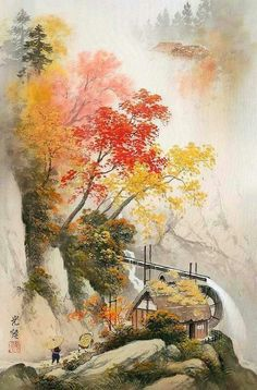 peintures koukei kojima - Page 3 Sumi E Painting, Japan Painting, Art And Illustration, Flower Art Images, Japanese Art Prints, Korean Art, China Art, Japan Art, Art Background