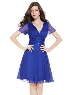 Ever Pretty Womens Short Sleeve V Neck Short Party Dress 4 US Sapphire Blue Ever-Pretty http://www.amazon.com/dp/B00SXJMFTY/ref=cm_sw_r_pi_dp_FKtWvb1SQ2PV2