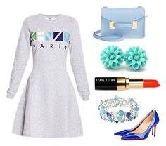 """"""""""" by camille-cizmic on Polyvore featuring mode, Kenzo, Sophie Hulme, Christian Louboutin, Avenue et Bobbi Brown Cosmetics"""