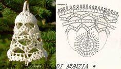 ... Le Creazioni di Nunzia ...: CAMPANELLE NATALIZIE CON SCHEMA !!!
