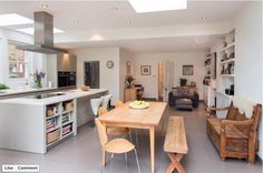 Kitchen Extension 3 - contemporary - Kitchen - Other Metro - Architect Your Home - Interior Your Home Kitchen Dining Living, Kitchen Family Rooms, New Kitchen, Kitchen Decor, Dining Room, Kitchen Diner Extension, Open Plan Kitchen Diner, Kitchen Island, Villa Interior