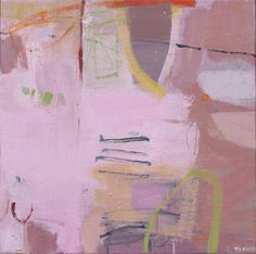 "Pink And Then Some by Jane Lewis, oil on canvas, 50 x 50 cm (20"" x 20"")"