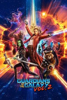 Guardians of the Galaxy Vol 2 Movie Poster - Chris Pratt, Star Lord Peter Quill, Marvel Movie Posters, Marvel Movies, Horror Movies, Action Movie Poster, Poster Marvel, Michael Rooker, Galaxy Movie, Galaxy 2