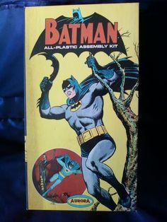 1964 Vintage Aurora Batman All Plastic Assembly Kit 467 149 with Tree Batarang   eBay