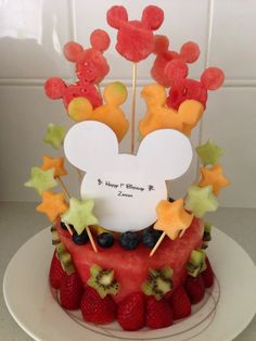 Mickey Mouse Fruit Cake