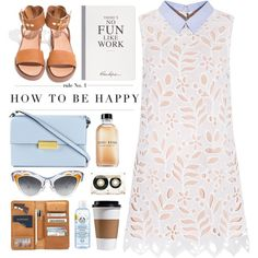 How to be happy by purpleagony on Polyvore featuring polyvore fashion style STELLA McCARTNEY The Body Shop Bobbi Brown Cosmetics Selfridges CASSETTE simpleset