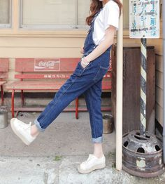 Wholesale Pockets Solid Color Denim Fashionable Style Sleeveless Cheap Overalls For Women (DEEP BLUE,L), Pants - Rosewholesale.com