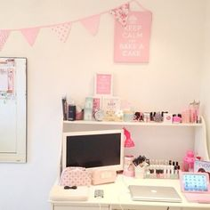 ImageFind images and videos about cute, pink and girly on We Heart It - the app to get lost in what you love. Cute Room Ideas, Kawaii Room, Room Goals, Teen Girl Bedrooms, Teen Bedroom, Dream Rooms, Dream Bedroom, My New Room, Cubbies