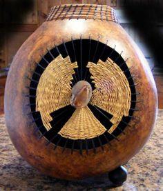 """*Gourd Art - """"Earth Angel"""" by Linda Gordon Rokosz"""