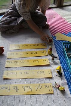 Matching Objects/Actions to Sentence Strips