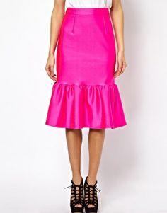 Image 4 ofASOS Pencil Skirt with Peplum Hem