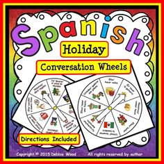 Encourage your students to speak Spanish with these fun, interactive conversation wheels.