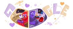 Valentine's Day This special doodles evokes the perfect combination of romance, humor, and science fiction! Google Doodles, Valentines Day Doodles, Happy Valentines Day, Rome Antique, Universe Today, Homemade Lip Balm, Sweet Nothings, Out Of This World, Love Notes