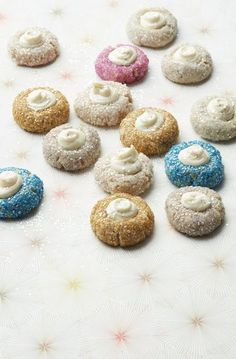Starry Thumbprints Christmas Cookie Recipe: A holiday classic goes glam with sparkly sugar and metallic accents.