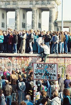 Tearing Down of Berlin Wall, 1989  photo by Sue Ream