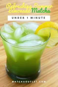 Combining classic sweet and sour lemonade with effervescent sparkling water and crisp green Matcha makes for a perfect refreshing drink. The taste is very strong of lemonade, with the Matcha acting as an accent, adding a grassy finish to the drink. This lemonade Matcha would be a great way of introducing someone to Matcha for the first time! Matcha Lemonade Recipe, Frozen Lemonade Recipes, Sparkling Lemonade, Best Lemonade, Juicer Recipes, Blender Recipes, Fresh Squeezed Lemonade, Summer Drinks, Drink Mixer