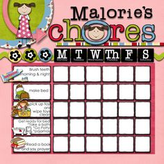 Create this #DIY Custom Chore Chart with Memory Mixer. Perfect for #Toddlers and #Preschoolers. #Digiscrap @MemoryMixer www.ilovememorymixer.blogspot.com