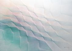ESTIVAL 904 22  étude  abstraction série (1991 ) plissage 21x29.7 cm 80 grs