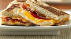 Precooked bacon and a cheese blend make a great combination in these panini.