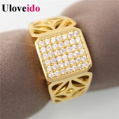 Find More Rings Information about 40% off Crystal Bague Homme Jewelry Large Gold Plated Ring for Men Aliancas De Casamento Wedding Rings Bijoux Uloveido JX004,High Quality jewellery pendant,China jewellery mould Suppliers, Cheap jewellery stand from Uloveido Official Store on Aliexpress.com