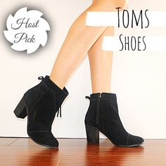 ✨HP✨TOMS Boots t o m s   s h o e s            s i z e :  8 c o l o r :  b l a c k p u r c h a s e d   i n   2 0 1 6 n e v e r   b e e n   w o r n TOMS Shoes Heeled Boots