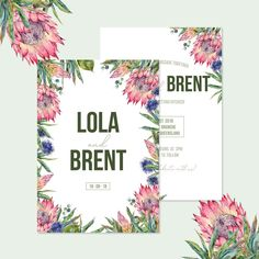AUSSIE BOTANICAL • Modern Australian Native Floral Invitations with Proteas, Thistle and Gum Leaves • Ready to Post Wedding Invitations Hens Party Invitations, Baby Shower Invitations, Wedding Invitations, Invites, Floral Invitation, Invitation Set, Getting Married In Australia, Post Wedding, Wedding Day